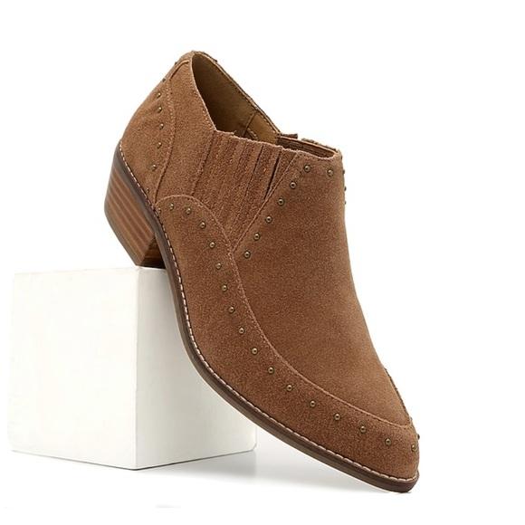 Crown Vintage Kavita Ankle Bootie Brown Suede 8.5
